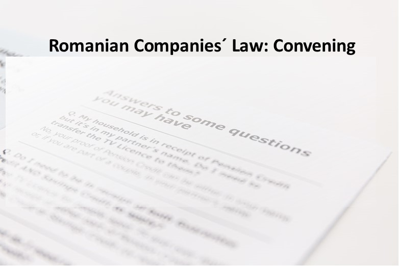 Romanian Companies' Law: Convening, October 2020